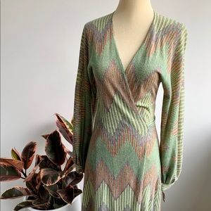 Vintage pastel wrap dress